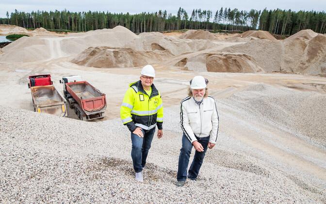 EMG juhatuse liige Rein Rätsep (vasakul) ja Geoforce juhataja Aarne Rohtvee.