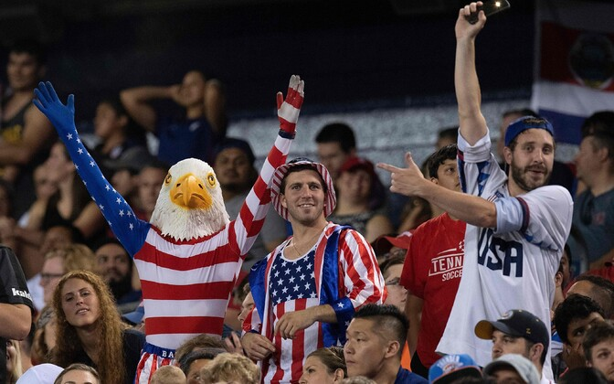 USA jalgpallifännid Nashville'is