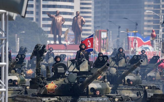 Paraad Põhja-Korea pealinnas Pyongyangis 2018. aastal.