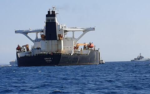 Супер танкер Grace 1 задержали в Гибралтаре.