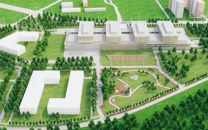 На первом этапе строительства Таллиннской больницы к концу 2021 года планируют построить центр здоровья.