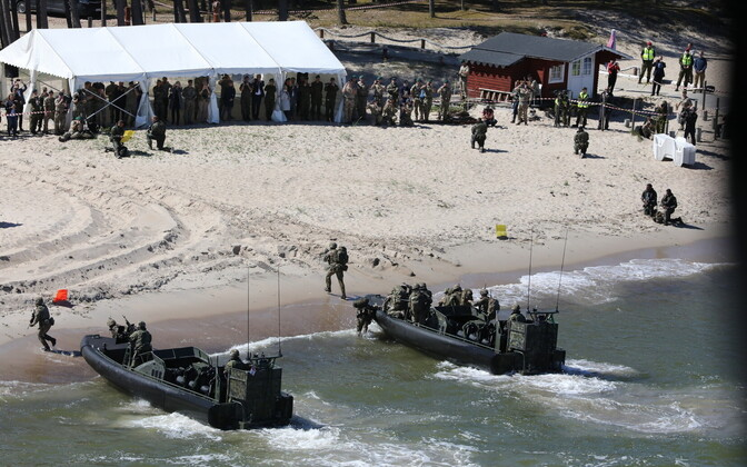 JEF amphibious landing exercise at Vakla beach on Thursday.