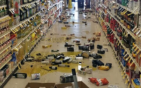 Последствия землетрясения.