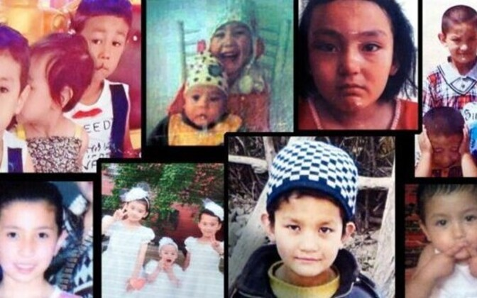 Fotod uiguuri lastest, kes on BBC artikli kohaselt oma vanematest eraldatud.