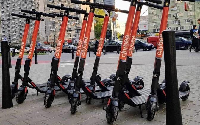 Citybee scooters in Tallinn.