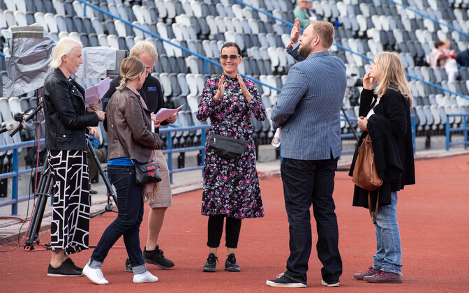 ERR's team is at Kalev Stadium, where it will be broadcasting the final performance of the XX Dance Festival live on Friday night. July 5, 2019.