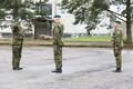 Viru pataljoni ülemuse vahetus. Viru pataljoni eelmine ülem Arno Kruusmann,  1. jalaväebrigaadi ülem kolonel Vahur Karus, Viru pataljoni ülem Tarvo Luga.