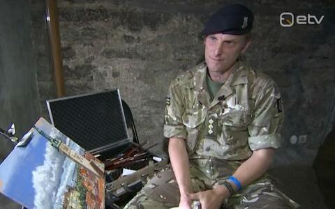 Kapten Hugh Beattie maalib Eestit.