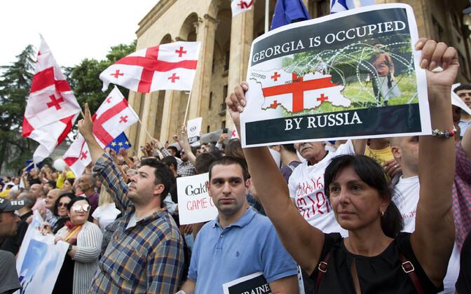 Антироссийские протесты в Тбилиси, 29 июня 2019 года.