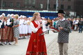 Diaspora Estonians danced at Freedom Square before the Song Festival on Sunday. July 7, 2019.