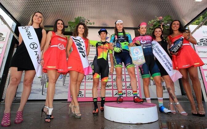 Letizioa Borghesi võitis Giro d'Italia Internazionale Femminile velotuuri neljanda etapi vaid millimeetritega