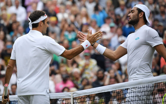 Roger Federer ja Matteo Berrettini