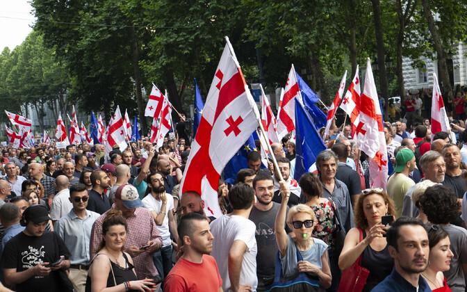 Протесты в Тбилиси.