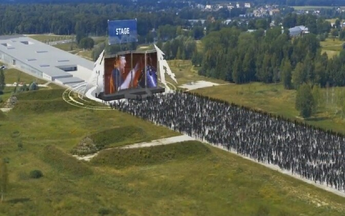 Artist's rendition of the forthcoming Metallica concert at Tartu's ERM museum.