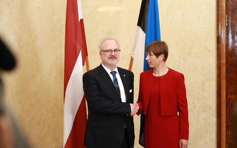 Президент Латвии Эгил Левитс встретился в Кадриорге с эстонским лидером Керсти Кальюлайд.