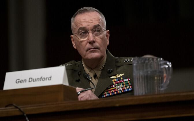 USA staabiülemate ühendkomitee esimees, kindral Joseph Dunford.