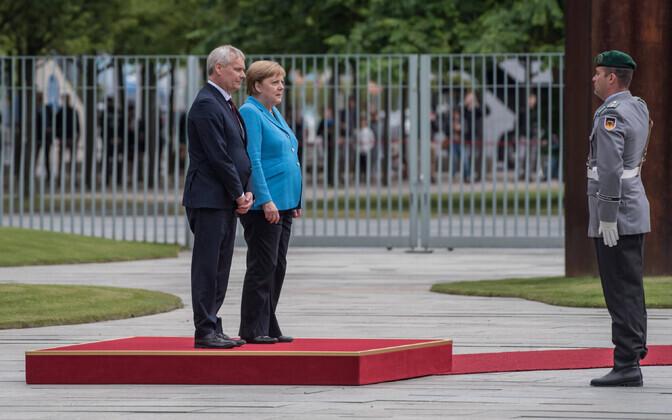 Antti Rinne ja Angela Merkel kolmapäeval Berliinis.