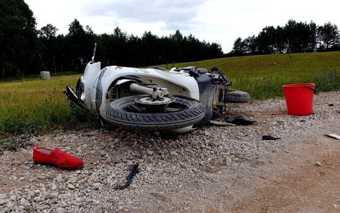 В ДТП в Эльва погиб водитель мопеда