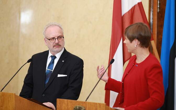 President of Latvia Egils Levits together with Estonian president Kersti Kaljulaid.