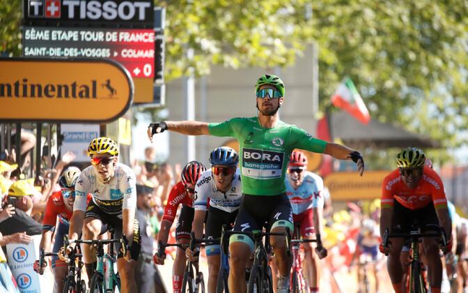 Peter Sagan võitmas Tour de France'i viiendat etappi