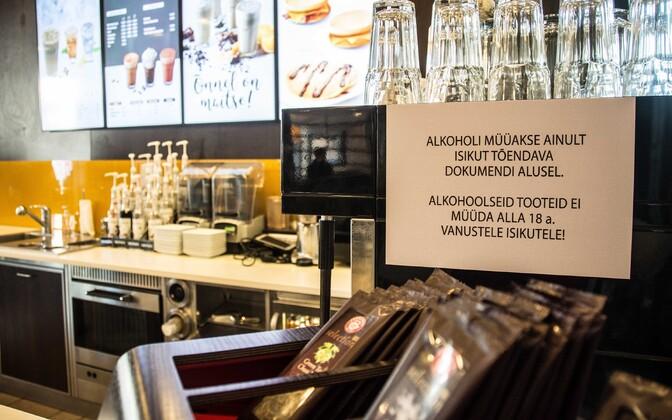 Alkohol on alla 18-aastastele keelatud