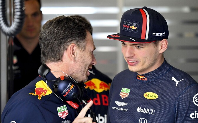 Christian Horner ja Max Verstappen