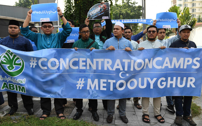 Uiguuride meeleavaldus Malaisia pealinnas Kuala Lumpuris.