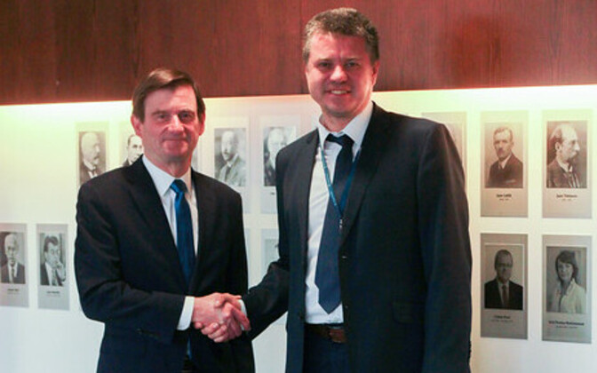 US Under Secretary of State David Hale (left) with Estonian foreign minister Urmas Reinsalu (Isamaa).