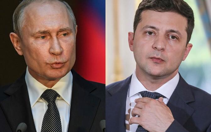 Putin ja Zelenski pidasid maha telefonivestluse.