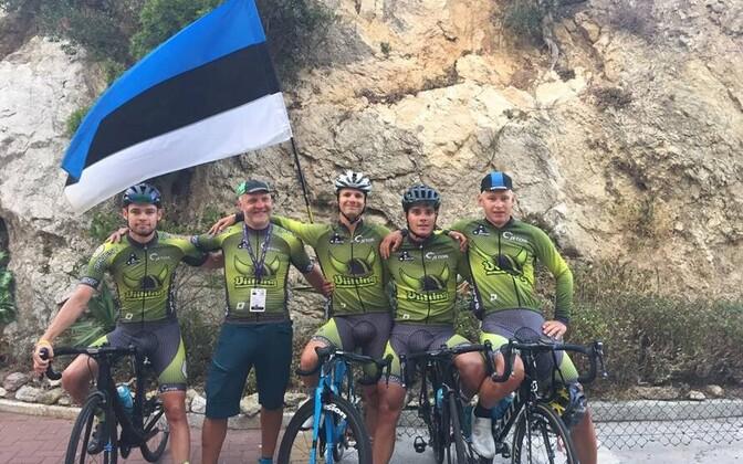 Eesti jalgratturid Saarte mängudel