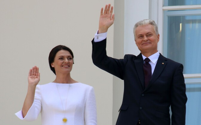 Президент Литвы Гинтас Науседа и его жена Диана Науседиене.