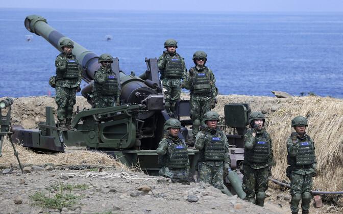 Sõjaväeõppus Taiwani lõunaosas.