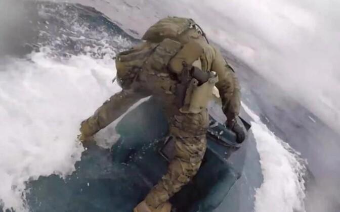 USA rannavalve foto operatsioonist narkosmugeldajate vastu 18. juunil.