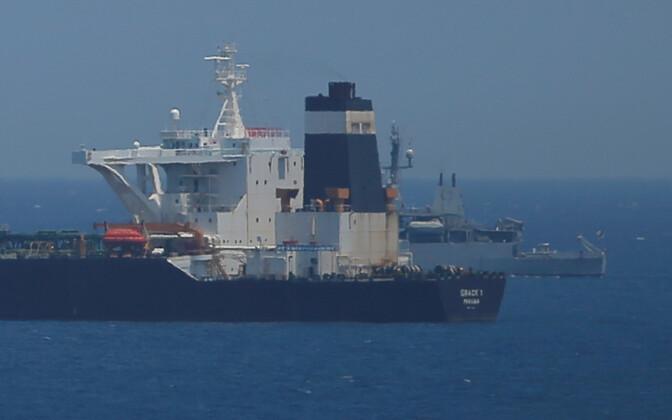 Tanker Grace 1 Gibraltari sadamas.