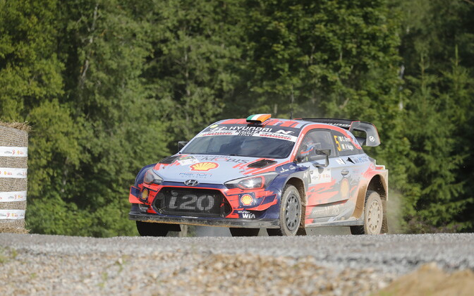 Ott Tänak - Martin Järveoja competing at Rally Estonia 2019