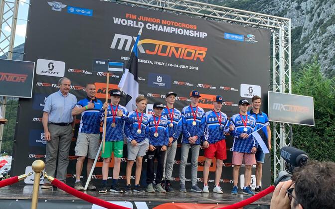 Eesti koondis motokrossi juunioride MM-il.