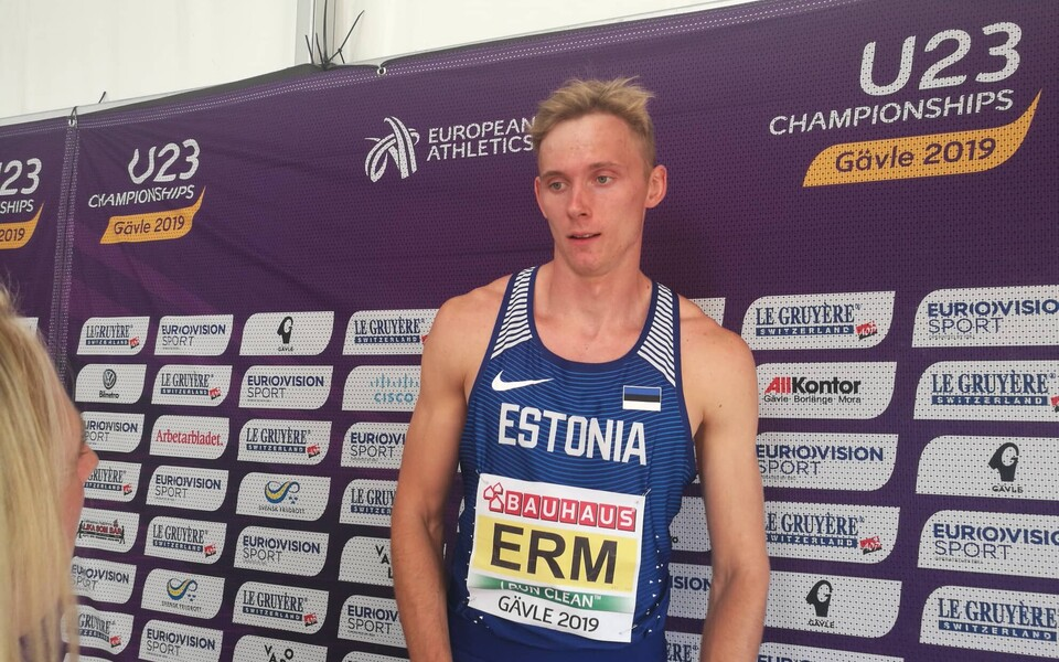 Johannes Erm U-23 EM-il Gävles.