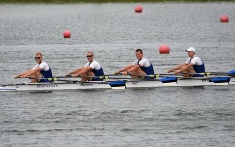 Eesti neljapaat koosseisus Kaspar Taimsoo (vasakult), Tõnu Endrekson, Sten-Erik Anderson ja Allar Raja.