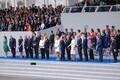 President Kersti Kaljulaid Pariisis Prantsusmaa rahvuspüha tähistamas.