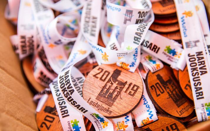 Narva Trail Runi lastejooksu medalid