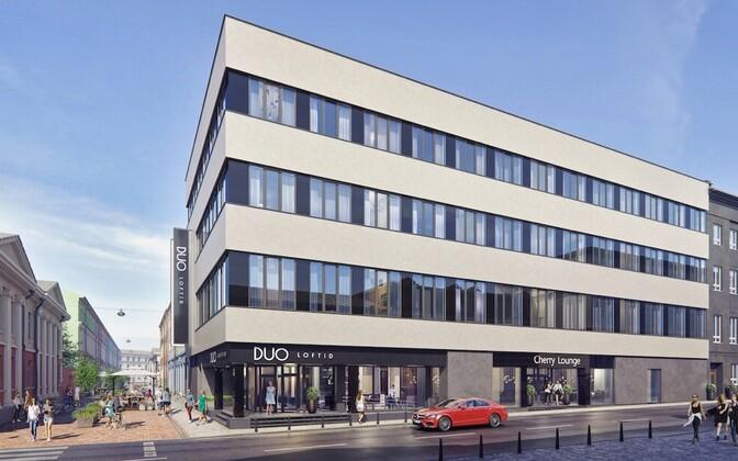 Эскизный проект нового здания в Старом городе Тарту.