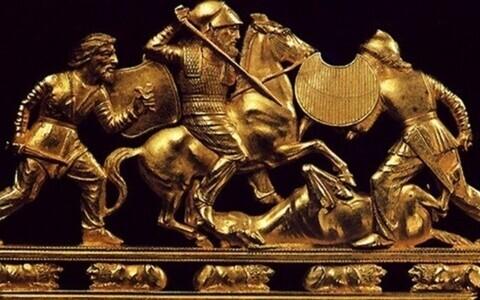 Скифское золотое украшение. Иллюстративная фотография.
