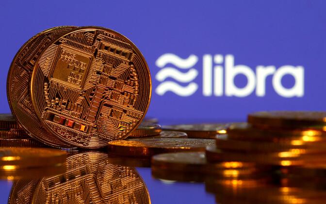 Криптовалюта и логтип Libra.
