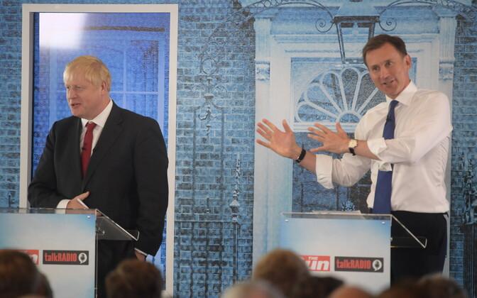 Boris Johnson ja Jeremy Hunt.