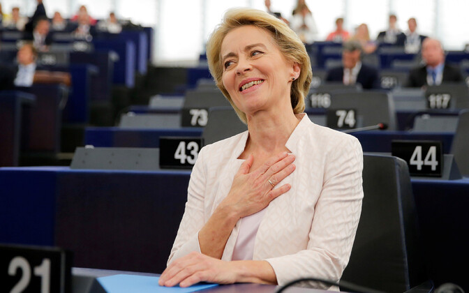 Ursula von der Leyen was elected the next president of the European Commission in the European Parliament on Tuesday night. July 16, 2019.