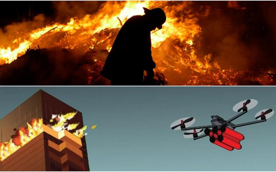 Робот-пожарный.