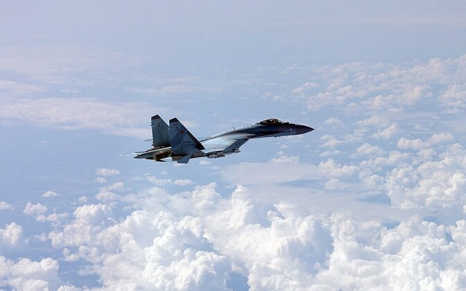 Finnish Air Force's photograph of a Russian military aircraft