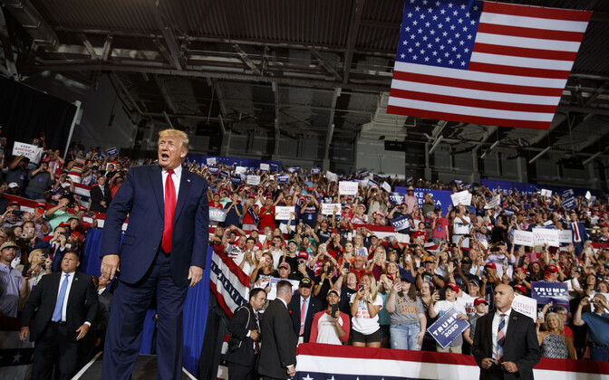 Donald Trump kampaaniaüritusel Greenville'is 17. juulil.