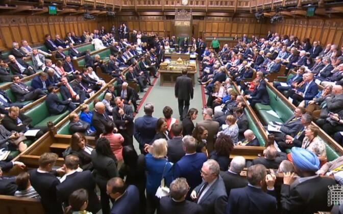 Голосование в британском парламенте.