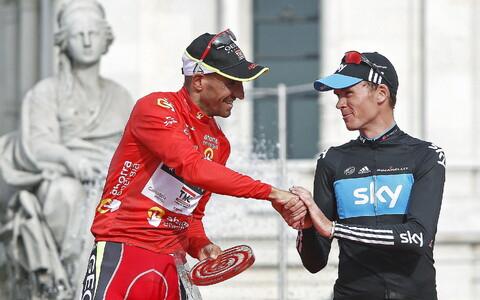 Juan Jose Cobo ja Chris Froome 2011. aasta Vuelta viimase etapi järel